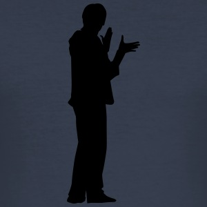 Man body Silhouette vector design - Men's Slim Fit T-Shirt