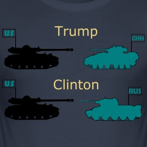 Trump eller Clinton - Herre Slim Fit T-Shirt