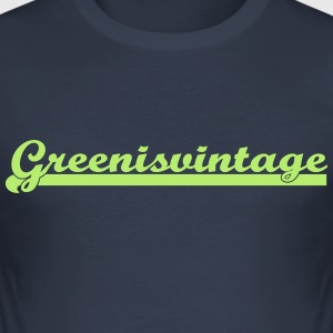 Green.is.vintage - Männer Slim Fit T-Shirt