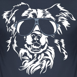 Border Collie cool - Männer Slim Fit T-Shirt