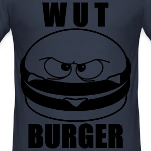 Wut Burger - Männer Slim Fit T-Shirt