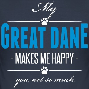 Min Great Dane gör mig glad - Slim Fit T-shirt herr