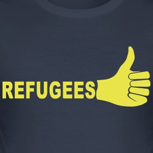Refugees - Men's Slim Fit T-Shirt