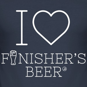 Jeg elsker Finisher s Beer - Herre Slim Fit T-Shirt