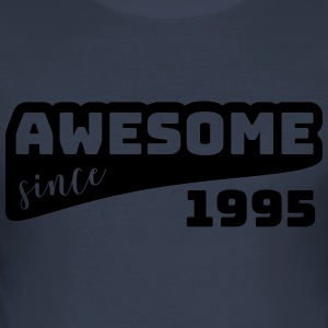 Awesome since 1995 / Birthday-Shirt - Männer Slim Fit T-Shirt