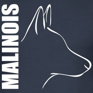MALINOIS PROFIL - Männer Slim Fit T-Shirt