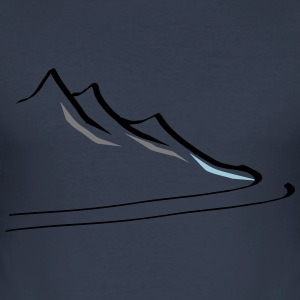 mountain1 - slim fit T-shirt