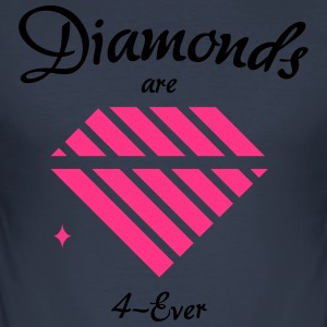 Diamonds are 4-Ever - Men's Slim Fit T-Shirt