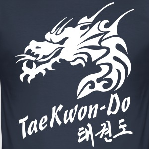 Taekwondo drage - Slim Fit T-skjorte for menn