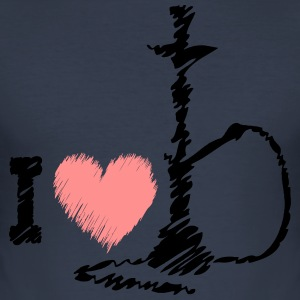 I love SHISHA - Männer Slim Fit T-Shirt