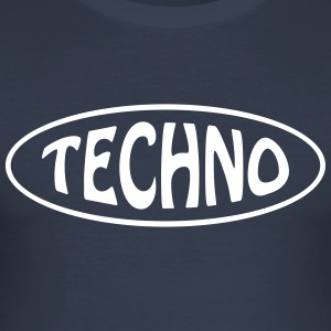 techno - Slim Fit T-shirt herr