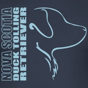 NOVA SCOTIA DUCK TOLLING RETRIEVER PROFIL - Männer Slim Fit T-Shirt