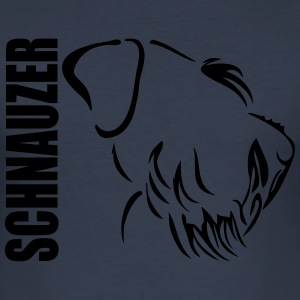 SCHNAUZER PROFILE - Men's Slim Fit T-Shirt