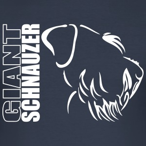 GIANT SCHNAUZER PROFILE - Men's Slim Fit T-Shirt