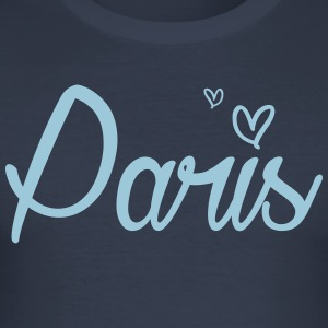 Paris med hjertet - Slim Fit T-skjorte for menn
