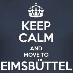 Keep Calm and move to Eimsbüttel - Männer Slim Fit T-Shirt