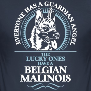 GUARDIAN ANGEL BELGISK Malinois - Slim Fit T-skjorte for menn