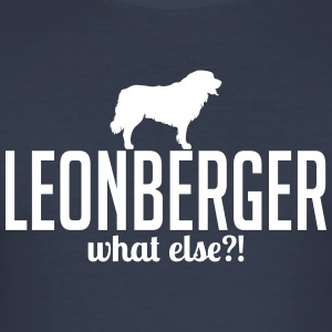 Leonberger whatelse - Slim Fit T-skjorte for menn