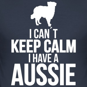 I can´t KEEP CALM Aussie - Männer Slim Fit T-Shirt