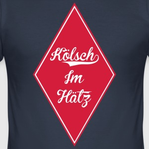 Kölsch in the Hatz (Rut un Wiess) - Men's Slim Fit T-Shirt