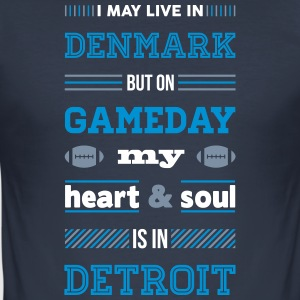 I may live in Denmark... (Detroit edition) - Herre Slim Fit T-Shirt
