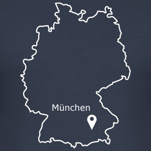 place to be: Munich - Men's Slim Fit T-Shirt