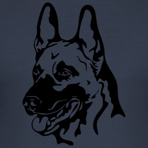 Malinois PORTRETT - Slim Fit T-skjorte for menn