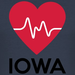 heart Iowa - Men's Slim Fit T-Shirt