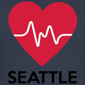 heart Seattle - Men's Slim Fit T-Shirt