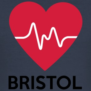 Heart Bristol - Männer Slim Fit T-Shirt