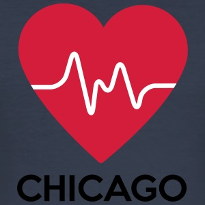 heart Chicago - Men's Slim Fit T-Shirt