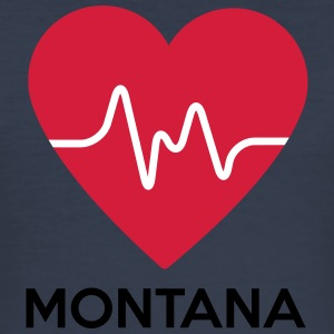 heart Montana - Men's Slim Fit T-Shirt