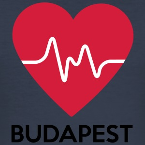 hjerte Budapest - Slim Fit T-skjorte for menn