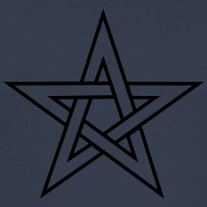 Pentagram, pentacle, magie, symbool, hekserij, - slim fit T-shirt