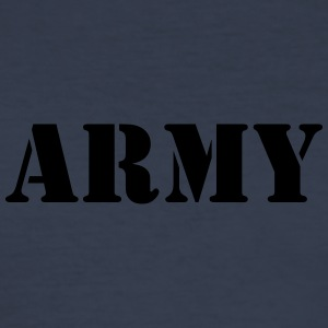 Army black - Männer Slim Fit T-Shirt