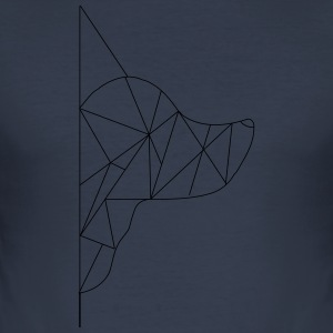 Triangle-Dog - Men's Slim Fit T-Shirt