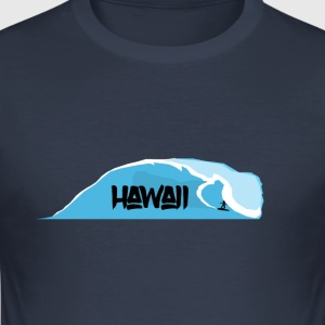 vågor Hawaii - Slim Fit T-shirt herr