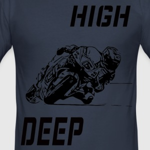 Rennmaschine high deep - Männer Slim Fit T-Shirt