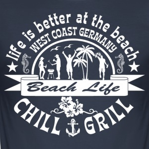 Chill Grill West Coast - Men's Slim Fit T-Shirt