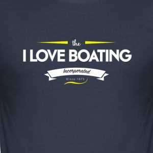 boating_logo_2 - Tee shirt près du corps Homme