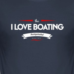 boating_logo_4 - Tee shirt près du corps Homme