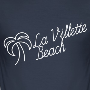 La Villette hvit strand - Slim Fit T-skjorte for menn