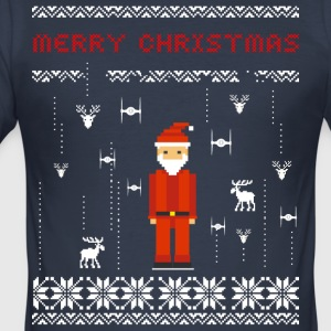 Santa Video Game Ugly Christmas Holiday T-Shirt st - Männer Slim Fit T-Shirt