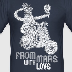 from mars with love - Tee shirt près du corps Homme