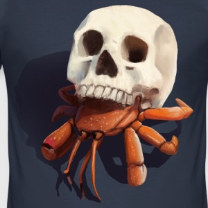 Skull Hermit Crab - Men's Slim Fit T-Shirt