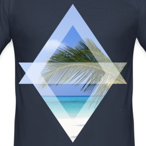 palm leaf - Men's Slim Fit T-Shirt