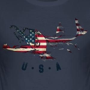 SALMON USA - Slim Fit T-shirt herr