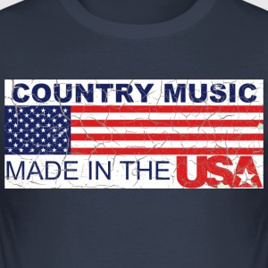 Shirt Country USA - Männer Slim Fit T-Shirt