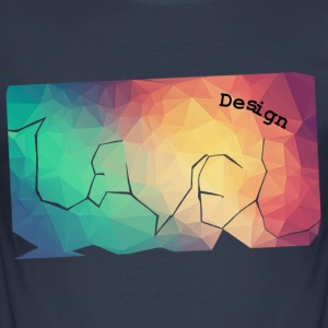 Nivå-design - Lowpoly - Slim Fit T-shirt herr