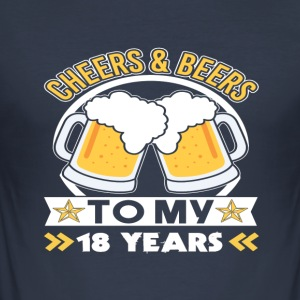 18th birthday beers - Men's Slim Fit T-Shirt